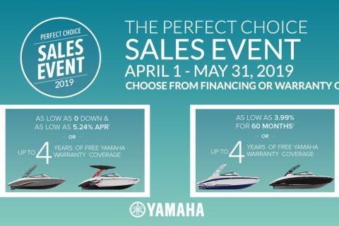 Yamaha Boats Perfect Choice Sales Event 2019