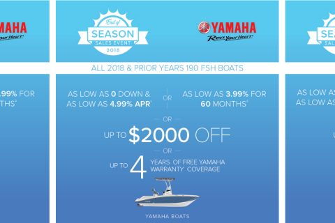 Yamaha Boats End of Season Sales Event
