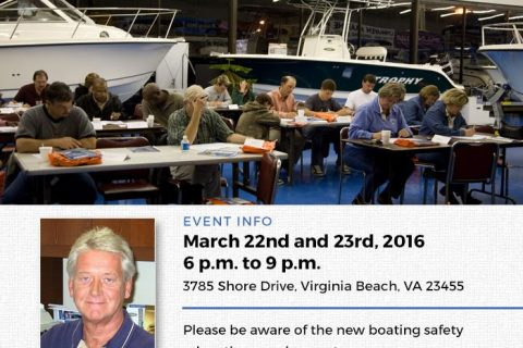 Boating Safety Class – March 22-23, 2016
