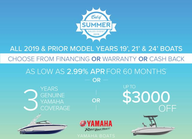 End of Summer Yamaha Promotions