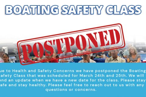 Boating Safety Class – Postponed